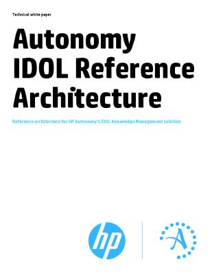 Reference architecture for HP IDOL