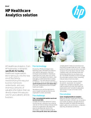 Game-changing healthcare analytics