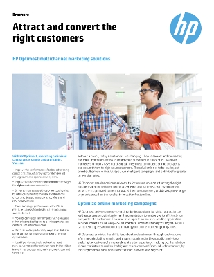 Attract and convert the right customers with HP Optimost