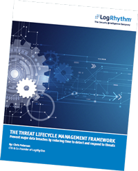 The cover of LogRhythm's Threat Lifecycle Management
