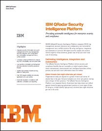 IBM QRadar Security Intelligence Platform