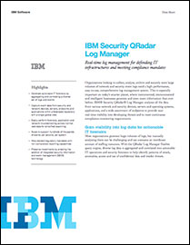 IBM Security QRadar Log Manager