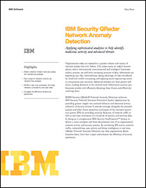 IBM Security QRadar Network Anomaly Detection