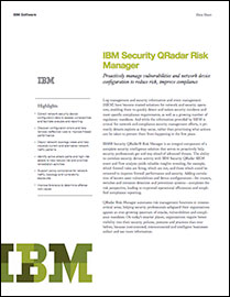 IBM Security QRadar Risk Manager